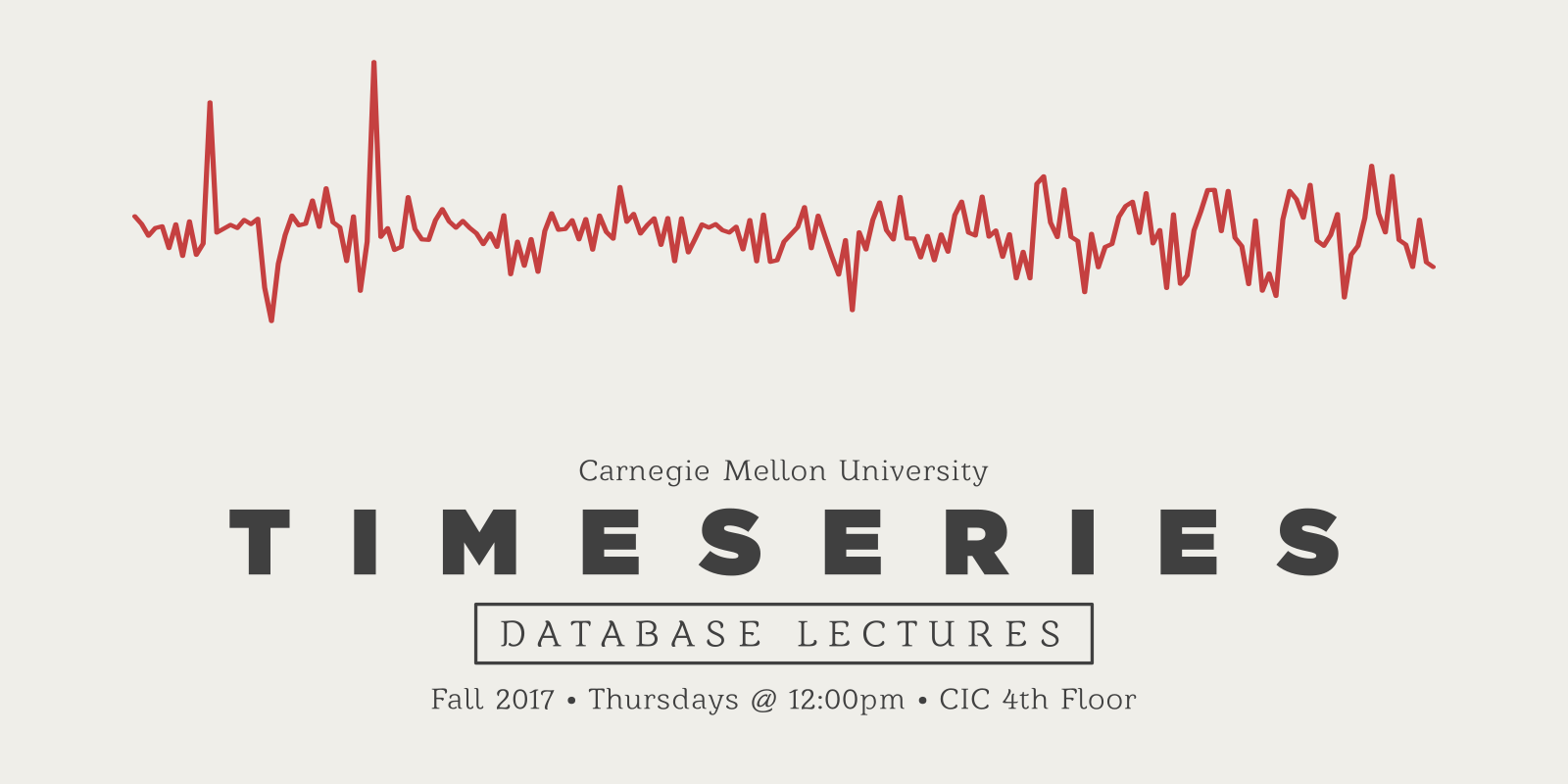 time series database lectures  u2013 fall 2017